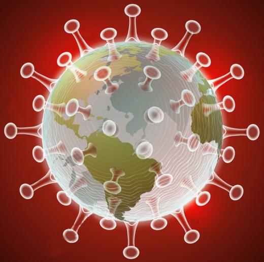 covid globe